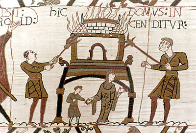 Tapestries Textiles Photograph - Bayeux Tapestry by Granger