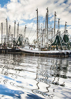 Bayou Labatre' Al Shrimp Boat Reflections Art Print