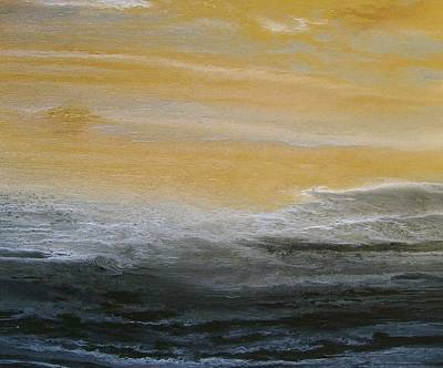 Abstract Seascape Painting - Be Still And Know by KImberly Conrad
