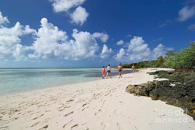 Beach At Coco Cay Print by Amy Cicconi
