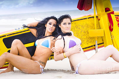 Sideways Photograph - Beach Babes by Jorgo Photography - Wall Art Gallery