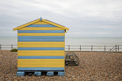 Pop Art Rights Managed Images - Beach hut at Kingsdown Royalty-Free Image by Ian Middleton