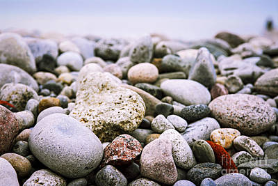 Rock Wall Art - Photograph - Beach Pebbles by Elena Elisseeva