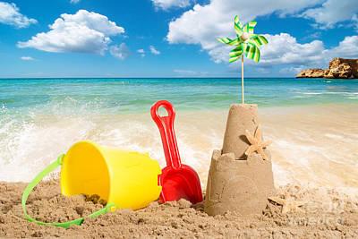 Sand Castle Photograph - Beach Scene by Amanda Elwell