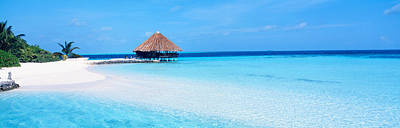 Beach Scene The Maldives Art Print by Panoramic Images