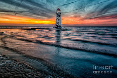 Talacre Photograph - Beach Sunset by Adrian Evans