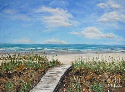 Beach Walkway Art Print by Stanton Allaben