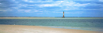 Beach With Lighthouse Art Print by Panoramic Images