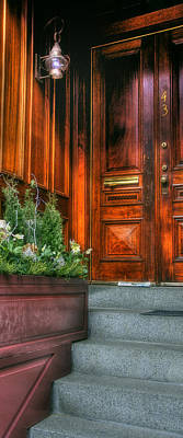 Photograph - Beacon Hill Doorways by Joann Vitali