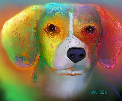 Digital Art - Beagle by Marlene Watson