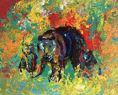 Painting - Bear Family by Peter Bonk