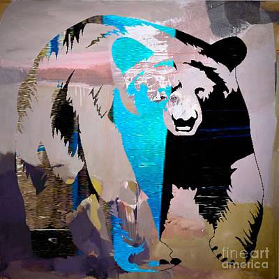 Polar Bear Mixed Media - Bear by Marvin Blaine