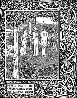 Mystic Drawing - Beardsley Morte D'arthur by Granger