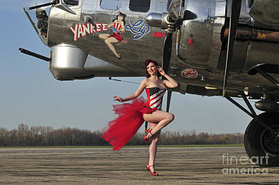Nose Art Photograph - Beautiful 1940s Style Pin-up Girl by Christian Kieffer
