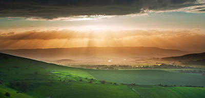 Door Locks And Handles - Beautiful English countryside landscape over rolling hills by Matthew Gibson