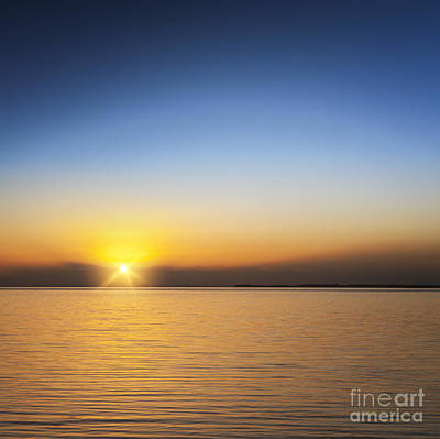 Abstract Male Faces - Beautiful Sunset Over Water by Colin and Linda McKie