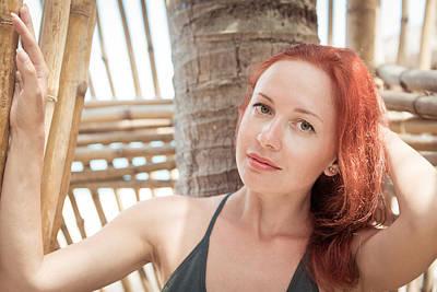 Keith Richards - Beautiful young woman at the beach by Nikita Buida