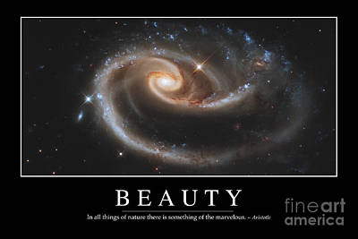 Merging Photograph - Beauty Inspirational Quote by Stocktrek Images