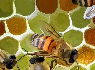 Bumble Digital Art - Bee by Chris Butler