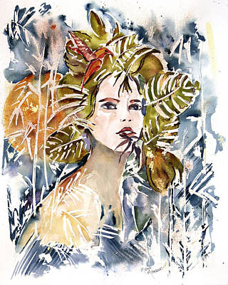 Painting - Behind The Leaves by Mona Mansour Jandali