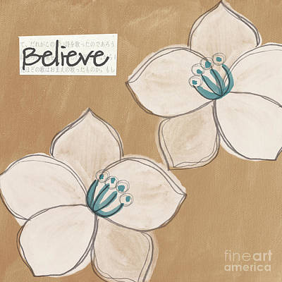 Florals Royalty-Free and Rights-Managed Images - Believe by Linda Woods