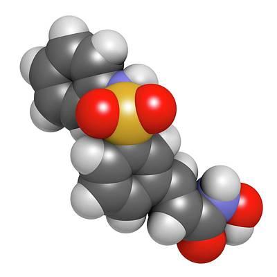 Belinostat Cancer Drug Molecule Art Print