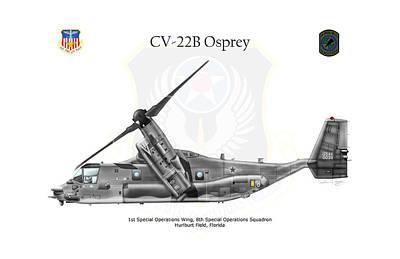 Digital Art - Bell Boeing Cv-22b Osprey by Arthur Eggers