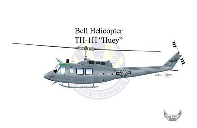 Bell Helicopter Th-1h Huey Art Print