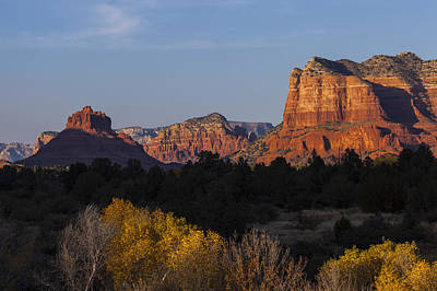 Photograph - Bell Rock And Courthouse Butte by Ed Gleichman