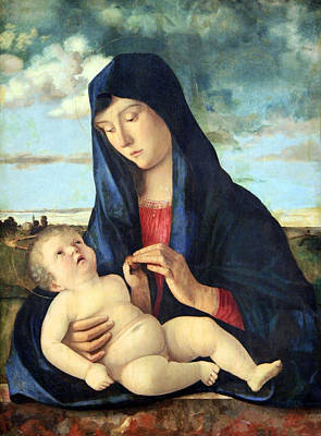 Photograph - Bellini's Madonna And Child In A Landscape by Cora Wandel