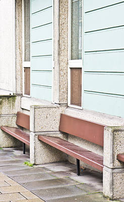 Window Bench Photograph - Benches by Tom Gowanlock
