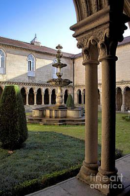 Fountain Photograph - Benedictine Gothic Cloister by Jose Elias - Sofia Pereira