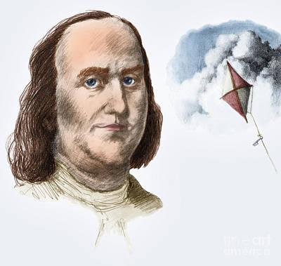 Benjamin Franklin Art Print by Spencer Sutton