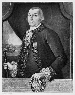Colonial Man Painting - Bernardo De Galvez (1746-1786) by Granger