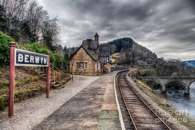 Signed Digital Art - Berwyn Railway Station by Adrian Evans
