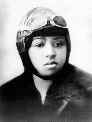 Bessie Coleman, American Aviator Art Print by Science Source