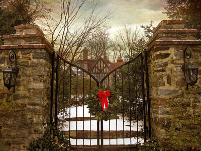 Christmas Digital Art - Beyond The Gates by Jessica Jenney
