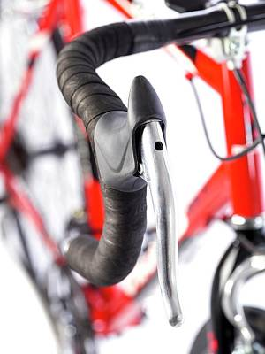 Handlebar Photograph - Bicycle Handlebars by Science Photo Library