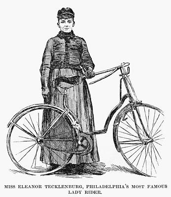 Philadelphia Drawing - Bicycling, C1890 by Granger