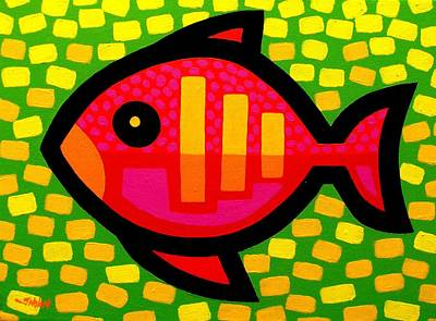 Dot Painting - Big Fish by John  Nolan