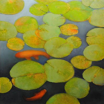 Painting - Big Koi Sold by Cap Pannell