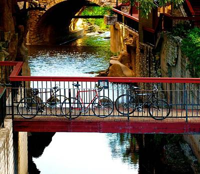 Photograph - Bikes Over Waller Creek In Austin by Kristina Deane