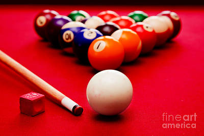 Cue Ball Photograph - Billards Pool Game by Michal Bednarek