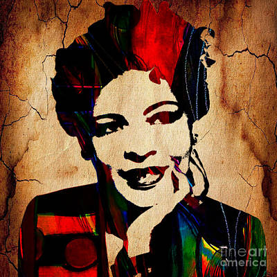 Icons Mixed Media - Billie Holiday Collection by Marvin Blaine