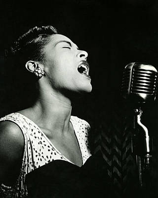Blue Photograph - Billie Holiday by Retro Images Archive