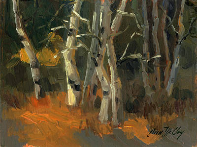 Painting - Birches by Diane McClary