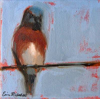Painting - Bird On A Wire I by Erin Rickelton
