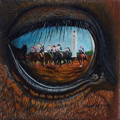Horserace Painting - Birds Eye View by Sherryl Lapping