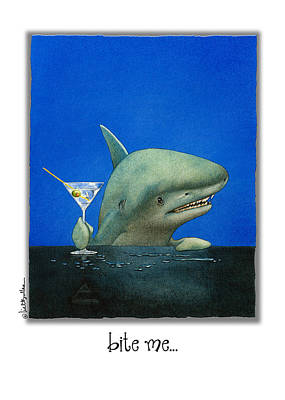 Shark Painting - Bite Me... by Will Bullas