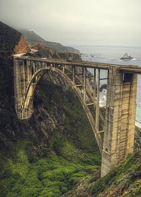 Bixby Bridge Art Print by Kenny  Noddin